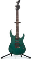 Musical Instruments:Electric Guitars, Recent Fernandez S Trans Green Solid Body Electric Guitar#FG03121016...
