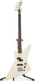 Musical Instruments:Bass Guitars, 1980's Hamer Explorer Cream Electric Bass Guitar #3 7745...