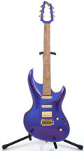 Musical Instruments:Electric Guitars, Recent MJ Mirage Iridescent Purple Solid Body Electric Guitar#1000115...