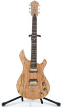 Musical Instruments:Electric Guitars, Recent Michael Kelly Valor Limited Natural Solid Body ElectricGuitar #T09287...