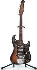 Musical Instruments:Electric Guitars, 1960's Baldwin Jazz Guitar Split Sound Sunburst Solid Body ElectricGuitar #15161...