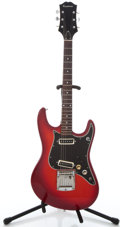 Musical Instruments:Electric Guitars, 1970's Epiphone Solid Body Red Burst Solid Body Electric Guitar#0122894...