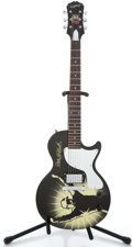 Musical Instruments:Electric Guitars, 2003 Epiphone Dale Earnheart Black Solid Body Electric Guitar#SJ03030242...