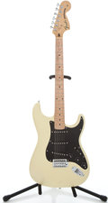 Musical Instruments:Electric Guitars, Recent Fender Squire Parts Caster Creame Solid Body Electric Guitar#021102501...