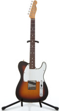 Musical Instruments:Electric Guitars, 1980's Fender Esquire Sunburst Solid Body Electric Guitar#A023943...