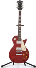Musical Instruments:Electric Guitars, Recent Tradition LP Trans Red Solid Body Electric Guitar ...