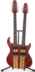 Musical Instruments:Electric Guitars, 1970's Aria Pro II Doubleneck Super-Twin Exotic Solid Body ElectricGuitar #109002...