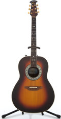 Musical Instruments:Acoustic Guitars, Ovation 1617 Sunburst Acoustic Electric Guitar #215197...