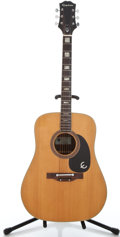 Musical Instruments:Acoustic Guitars, 1970's Epiphone FT-150 Natural Acoustic Guitar #233033...