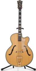 Musical Instruments:Acoustic Guitars, 1960's Hofner Ornate Blonde Archtop Acoustic Guitar #59863...