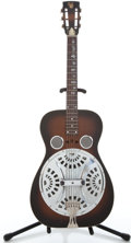 Musical Instruments:Resonator Guitars, 1972 Dobro Wood Body Sunburst Resonator Guitar #21221...