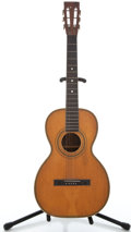 Musical Instruments:Acoustic Guitars, 1900's American Conservatory Parlor Natural Acoustic Guitar....