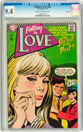 Silver Age (1956-1969):Romance, Falling in Love #92 Savannah pedigree (DC, 1967) CGC NM 9.4 Creamto off-white pages....
