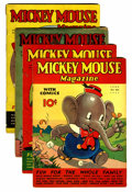 Platinum Age (1897-1937):Miscellaneous, Mickey Mouse Magazine V2#5-7 and 9 Group (K. K. Publications/Western Publishing Co., 1937).... (Total: 4 Comic Books)