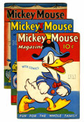 Platinum Age (1897-1937):Miscellaneous, Mickey Mouse Magazine V2#10, 11, and 13 Group (K. K. Publications/Western Publishing Co., 1937).... (Total: 3 Comic Books)