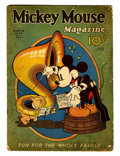 Platinum Age (1897-1937):Miscellaneous, Mickey Mouse Magazine #6 (K. K. Publications/ Western Publishing Co., 1936) Condition: FR/GD....