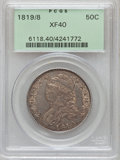 Bust Half Dollars: , 1819/8 50C Small 9 XF40 PCGS. PCGS Population (24/133). NGC Census:(18/220). Numismedia Wsl. Price for problem free NGC/P...