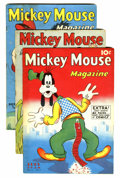 Platinum Age (1897-1937):Miscellaneous, Mickey Mouse Magazine V3#10-12 Group (K. K. Publications/ WesternPublishing Co., 1938).... (Total: 3 Comic Books)