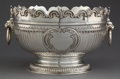 Silver Holloware, British:Holloware, A GEORGE III SILVER MONTEITH . Maker unknown, London, England,circa 1765-1766. Marks: (lion passant), (leopard's head crown...