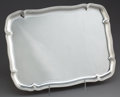 Silver Holloware, Continental:Holloware, A KOCH & BERGFELD GERMAN SILVER TRAY . Koch & Bergfeld,Bremen, Germany, circa 1875. Marks: (makers mark, crescent moon,cro...