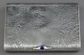 Silver Holloware, Continental:Holloware, A RUSSIAN SILVER CIGARETTE CASE . Unidentified maker, Moscow, Russia, circa 1908-1917. Marks: AGW (in Cyrillic) (delta, ...