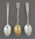 Silver Flatware, American:Other , A SET OF TWENTY-FOUR AMERICAN SILVER DEMI TASSE SPOONS BY VARIOUSMAKERS . Makers Reed & Barton, S. Kirk & Son, and GeorgJe...