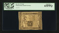 Colonial Notes:Pennsylvania, Pennsylvania October 25, 1775 18d PCGS Gem New 65PPQ.. ...