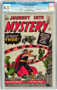 Journey Into Mystery #83 (Marvel, 1962) CGC VG+ 4.5 Off-white to white pages