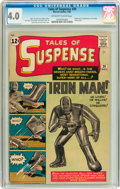 Silver Age (1956-1969):Superhero, Tales of Suspense #39 (Marvel, 1963) CGC VG 4.0 Off-white to white pages....