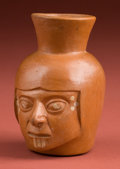Antiques:Antiquities, Mochica I Miniature Portrait Head Pot...