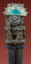 Antiques:Antiquities, Early Mochica, A Remarkable Ceremonial Tumi/ Scepter with Inlay...