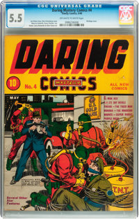 Daring Mystery Comics #4 (Timely, 1940) CGC FN- 5.5 Off-white to white pages