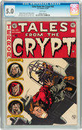 Golden Age (1938-1955):Horror, Tales From the Crypt #43 (EC, 1954) CGC VG/FN 5.0 White pages....