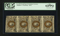 Fractional Currency:Second Issue, Fr. 1233 5¢ Second Issue Vertical Strip of Four PCGS New 62PPQ.. ...