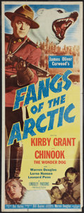 "Movie Posters:Adventure, Fangs of the Arctic (Monogram, 1953). Insert (14"" X 36"").Adventure.. ..."