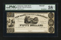 Obsoletes By State:Arkansas, Little Rock, AR- Bank of the State of Arkansas $50 G48 Rothert 400-4 Proof. ...