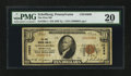 National Bank Notes:Pennsylvania, Schellburg, PA - $10 1929 Ty. 1 The First NB Ch. # 10666. ...