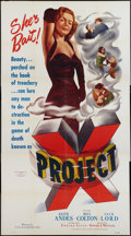 "Movie Posters:Action, Project X (Film Classics, 1949). Three Sheet (41"" X 81""). Action....."