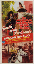 "Movie Posters:Western, South of the Rio Grande (Monogram, 1945). Three Sheet (41"" X 81""). Western.. ..."