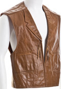 "Movie/TV Memorabilia:Costumes, A Vest from ""Chisum.""..."