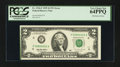 Error Notes:Ink Smears, Fr. 1936-F $2 1995 Federal Reserve Note. PCGS Very Choice New64PPQ.. ...