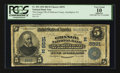 National Bank Notes:Pennsylvania, Smethport, PA - $5 1902 Date Back Fr. 592 The Grange NB of McKeanCounty Ch. # (E)8591. ...