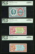 Military Payment Certificates:Series 611, Series 611 Three Different Denominations PCGS Graded.. ... (Total: 3 notes)
