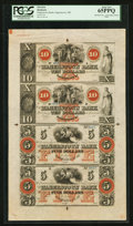 Obsoletes By State:Maryland, Hagerstown, MD- The Hagerstown Bank $10-$10-$5-$5 G46b-G46b-G40b-G40b Uncut Sheet. ...