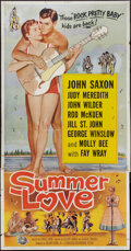 "Movie Posters:Rock and Roll, Summer Love (Universal International, 1958). Three Sheet (41"" X81""). Rock and Roll.. ..."