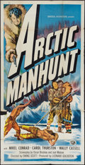 "Movie Posters:Adventure, Arctic Manhunt (Universal International, 1949). Three Sheet (41"" X81""). Adventure.. ..."