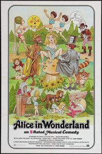 """Alice in Wonderland (General National, 1976). One Sheet (27"""" X 41"""") X-Rated Version. Adult"""