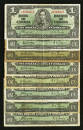 Canadian Currency: , $1 1937 Notes Very Good or Better.. ... (Total: 8 notes)