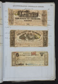 Confederate Notes:Group Lots, Confederate Quartermaster Album with Notes and Bonds.. ...