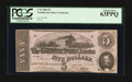 Confederate Notes:1862 Issues, T53 $5 1862 PF-19 Cr. 380.. ...